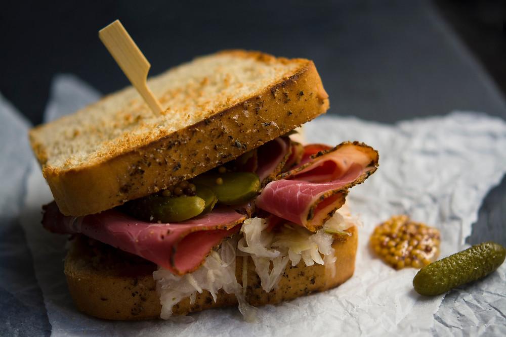Reuben sandwich sauerkraut