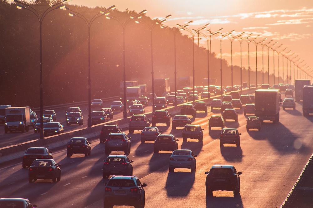 rush hour, traffic