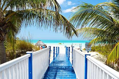 Image by Juan Rojas. Walkway to beautiful beach