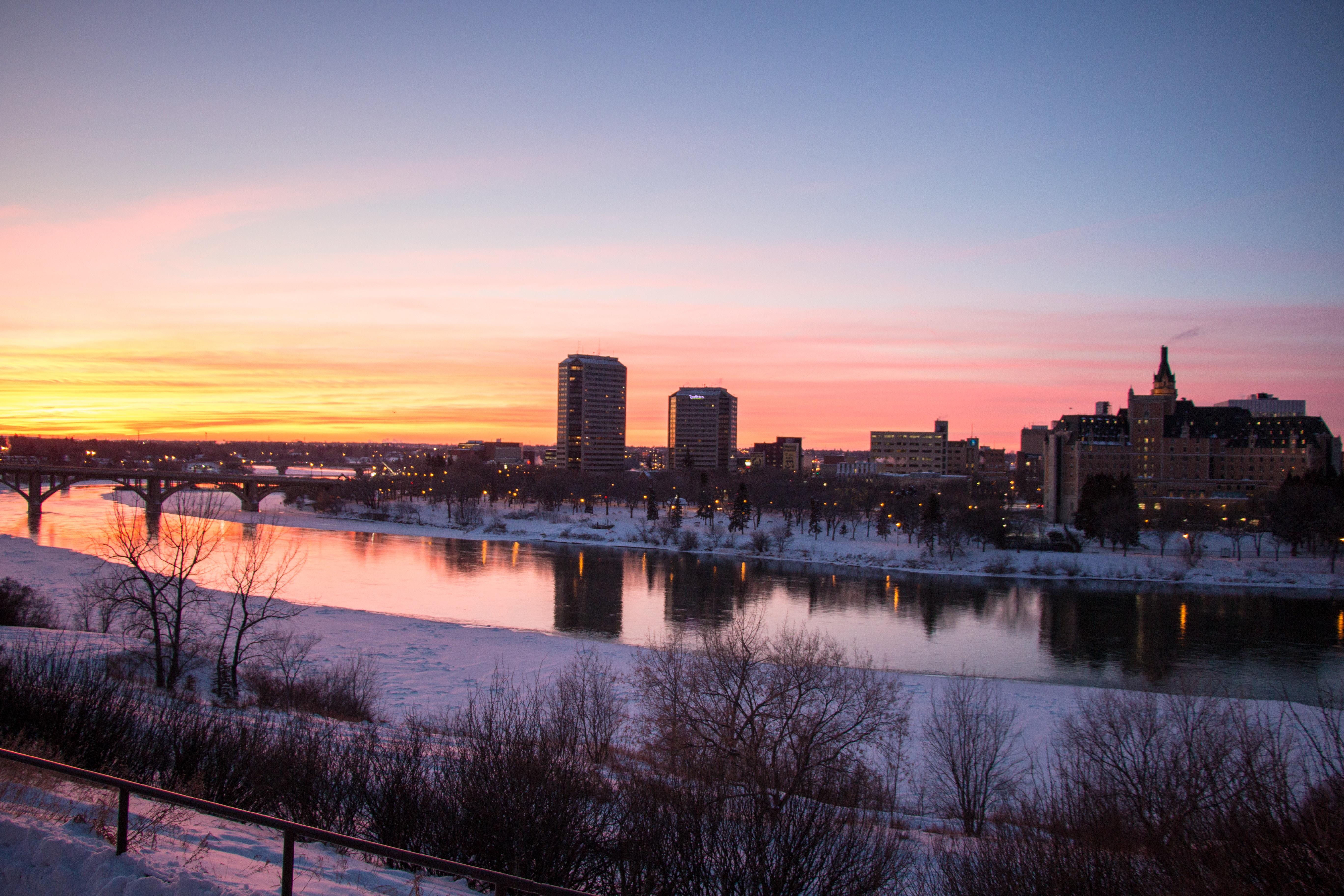 Zachód słońca w Saskatoon
