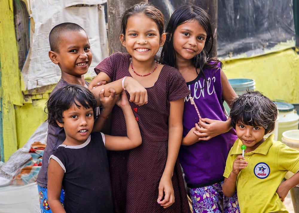 ילדים הודים באי אלפנטה