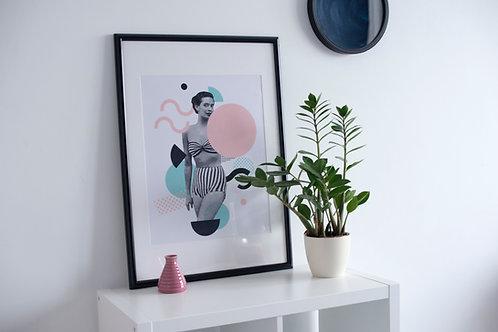 PRINTAI minimalistinis sienos paveikslas