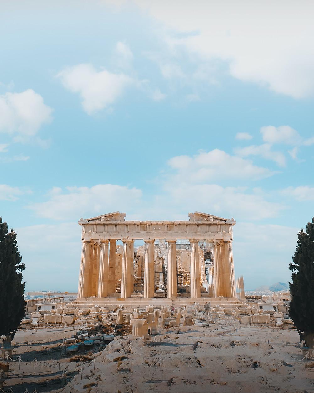 the Parthenon, side view