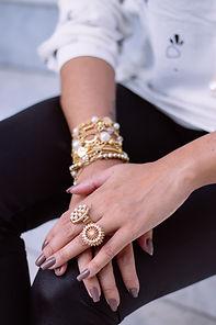 earrings, watches, bracelets