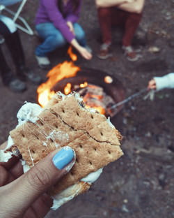 Enjoy Smores at the Bonfire