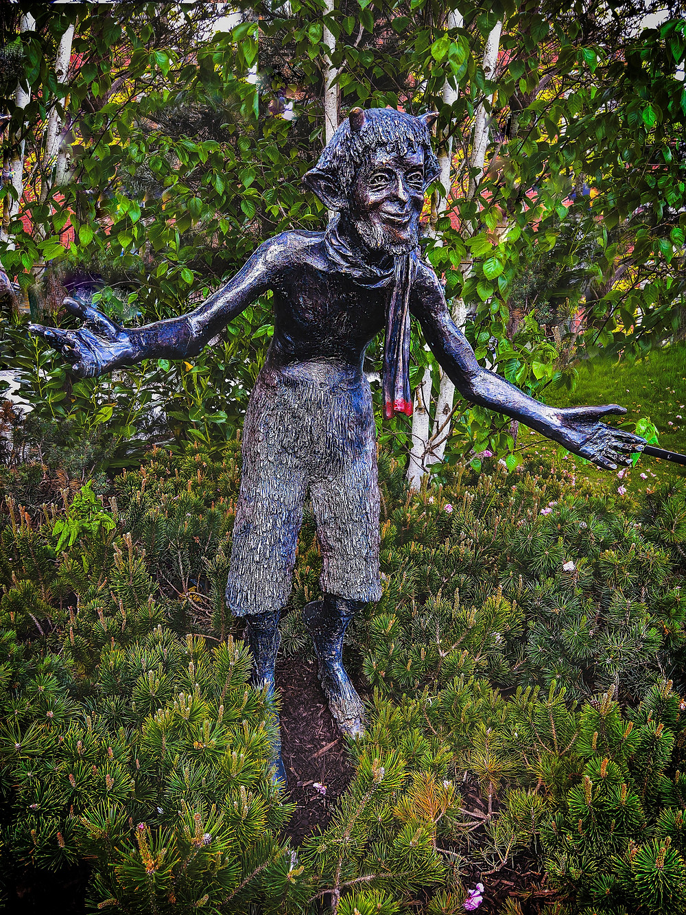 The Horned god is a humble god and he is ok without being prayed to constantly of even acknowledge in the belief systems he governs but not all male witches should take this path as we need more upfront male witches.