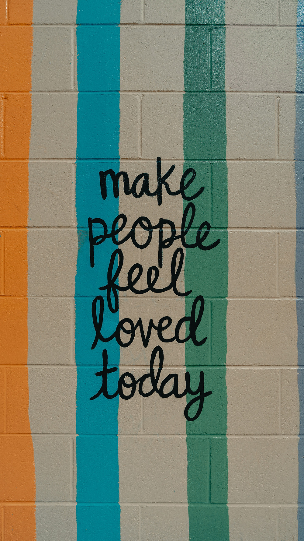 Graffiti on wall make people feel loved today