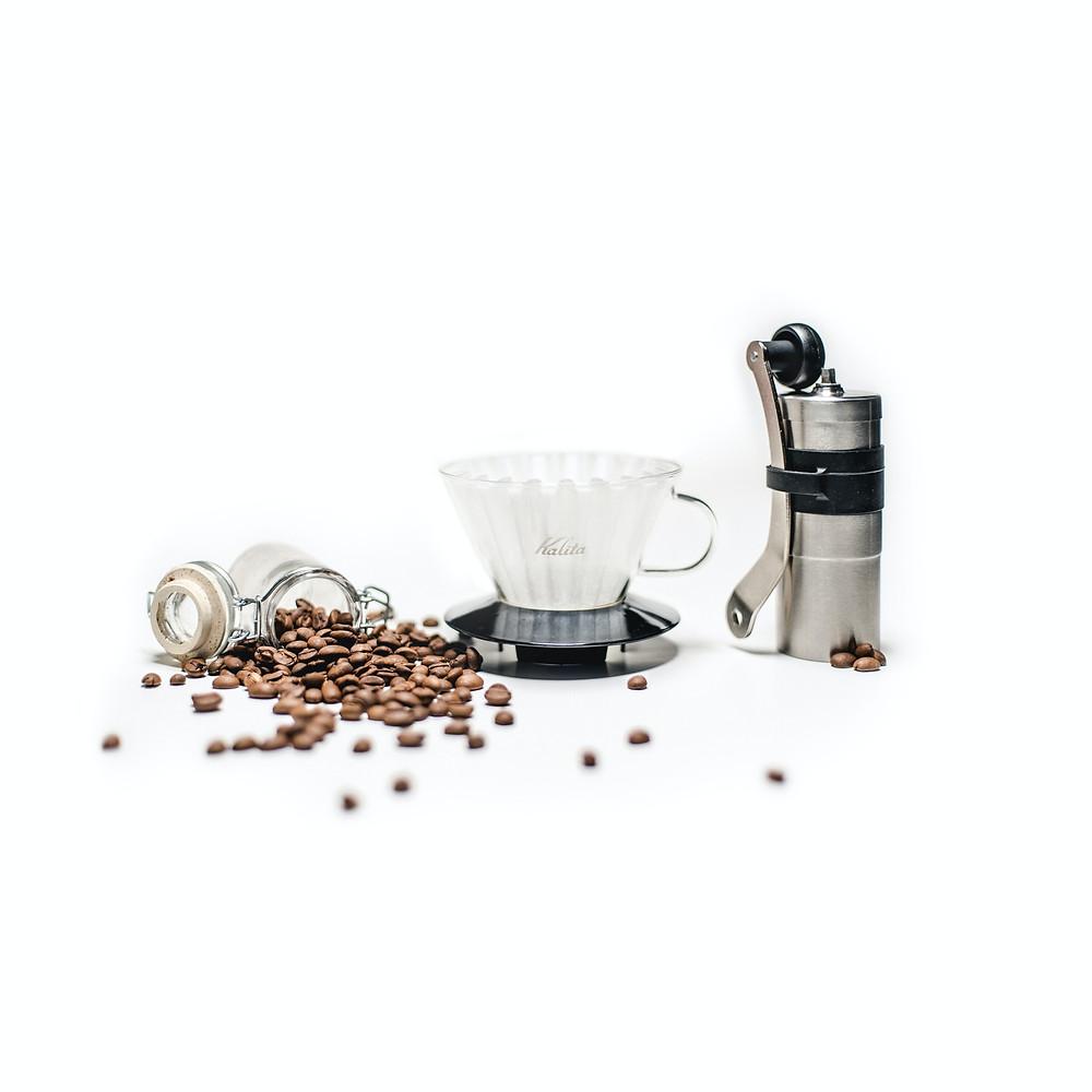 drip coffee set up