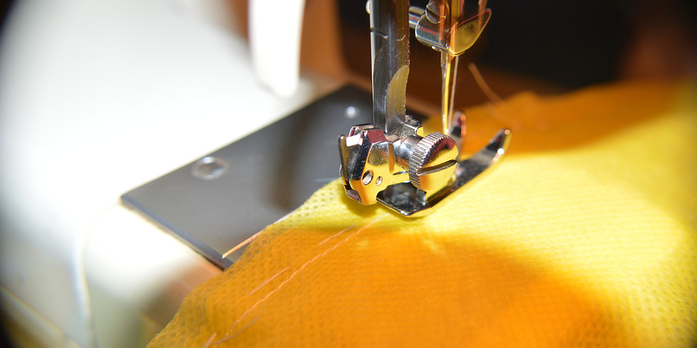 Sewing: Sewing Wig On Machine