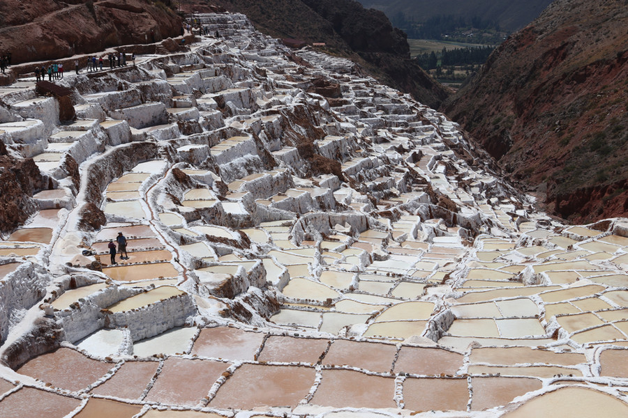 Hundreds of salt pools