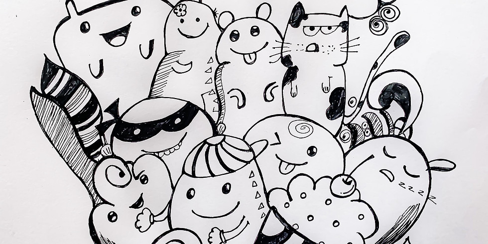 Draw cute characters - school holidays