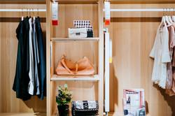 light brown custom closet