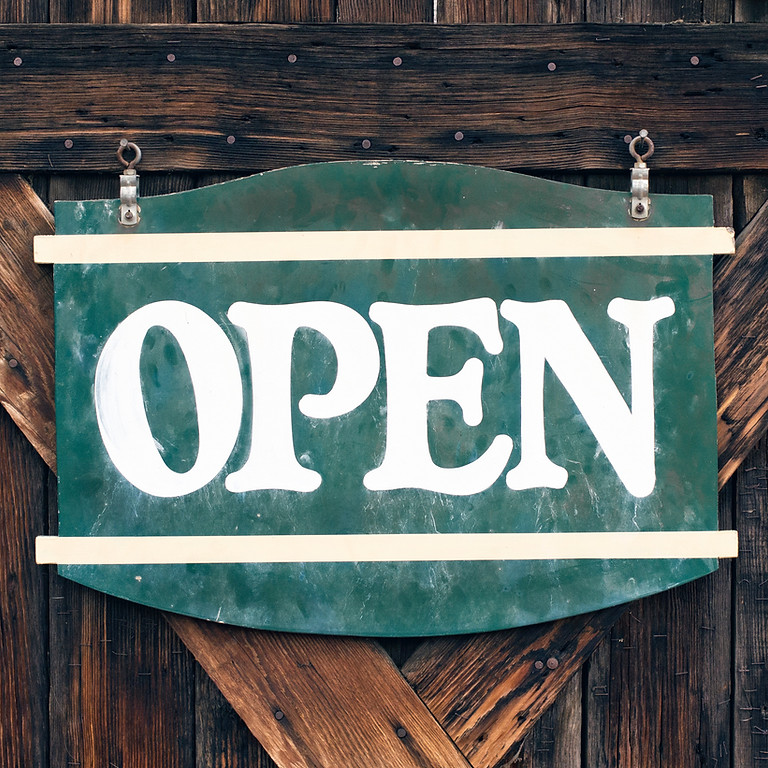 WE'RE OPEN! - WELCOME BACK