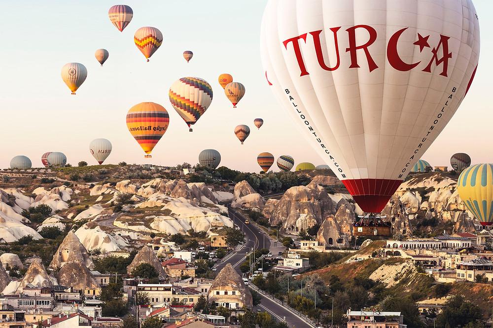 Hot Air Balloon Rides in Cappadocia, Turkey