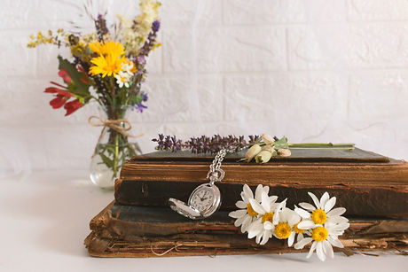 Wooden Urn and Funeral Flowers