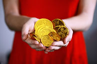 Donate Gold Coins hands