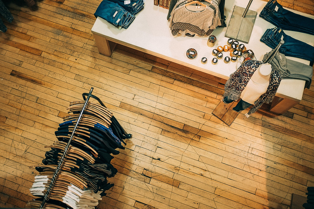 clothing store top view