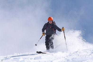 Off piste ski lesson