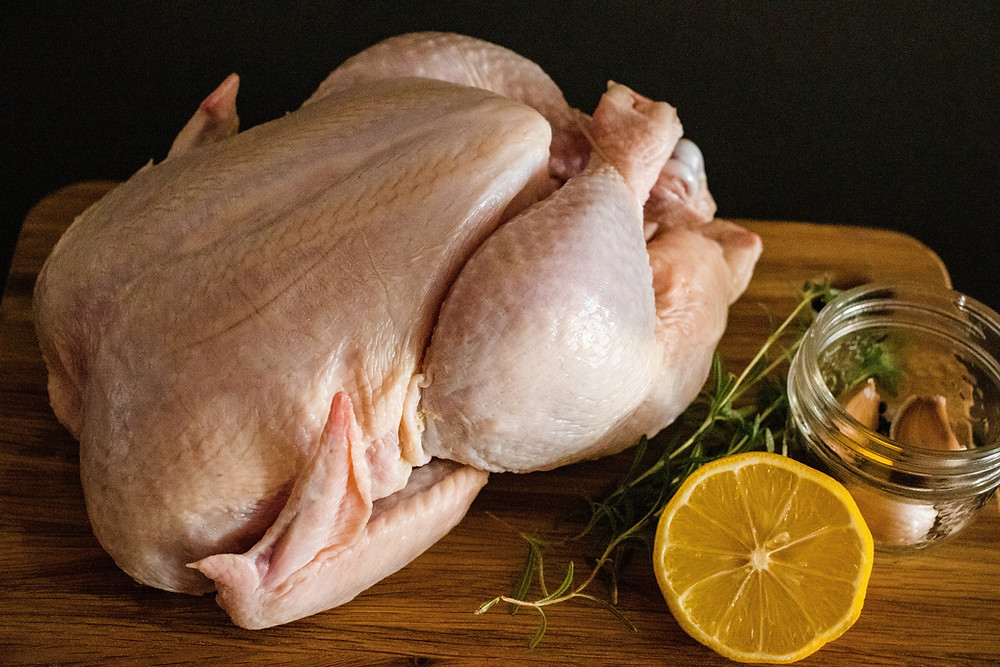 photo of raw turkey