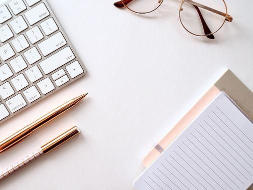 keyboard and pen flatlay