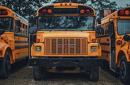 Line of School Busses