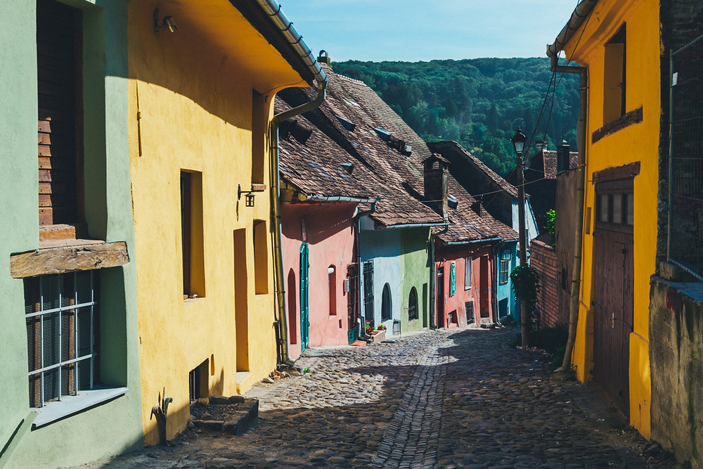 Sighisoara is a photogenic medieval town in Transylvania