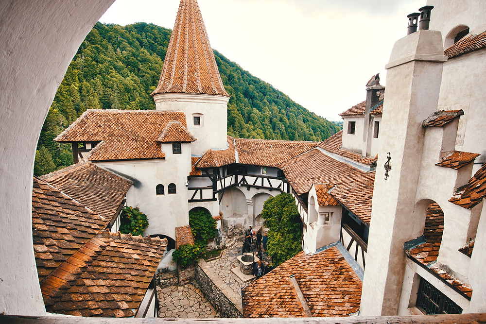 The famous Bran Castle near Braşov is Transylvania's top tourist attraction