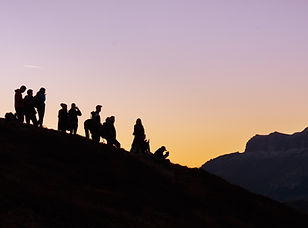 Team building icentives climbing mountain sunset high atlas morocco