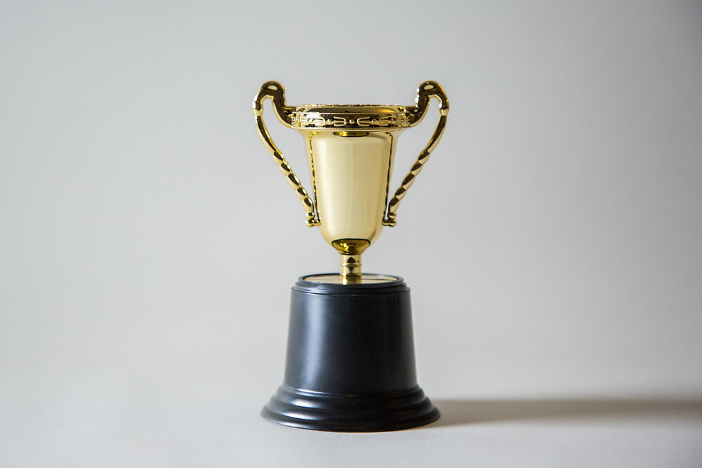 a trophy for the person who raised the most funds for their good cause
