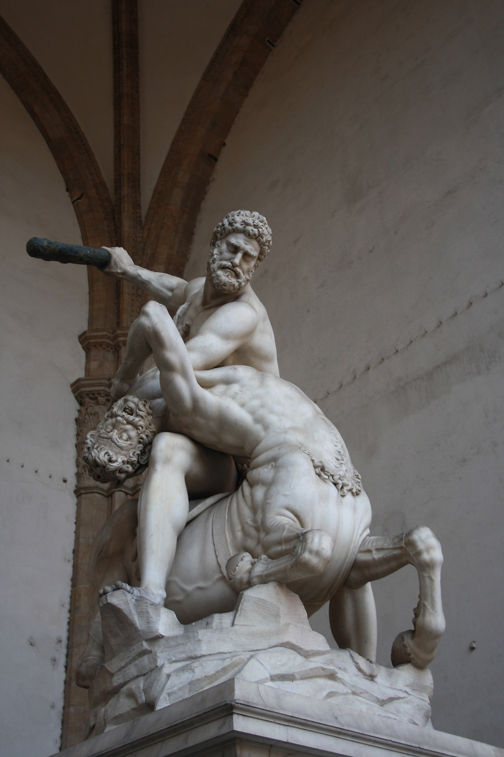 Chiron the centaur was noble and righteous but was overly risky with his behavior which caused him to mistakes that ultimately ended his life.