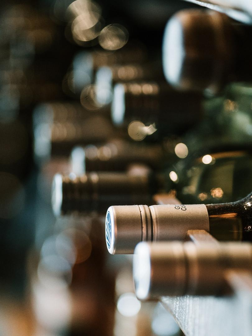 Wine Bottles at Mount Macedon Winery