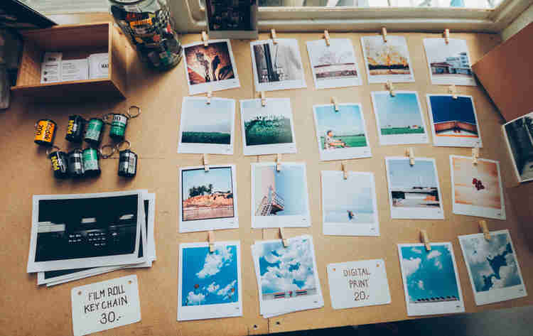 polaroid pictures for wall decoration mural