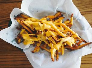 frites maison cheddar fondu