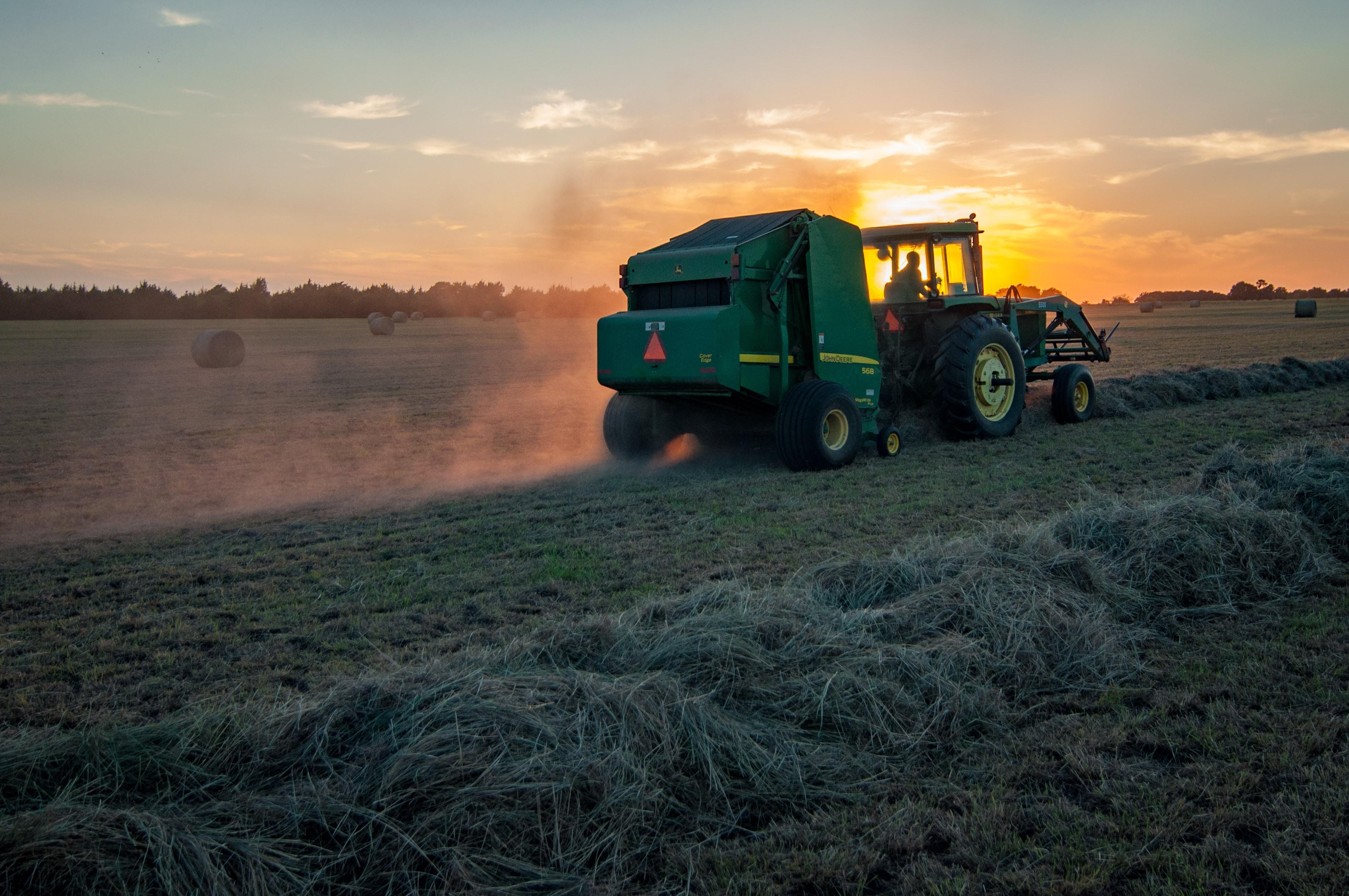 John Deere Tractor  Hay