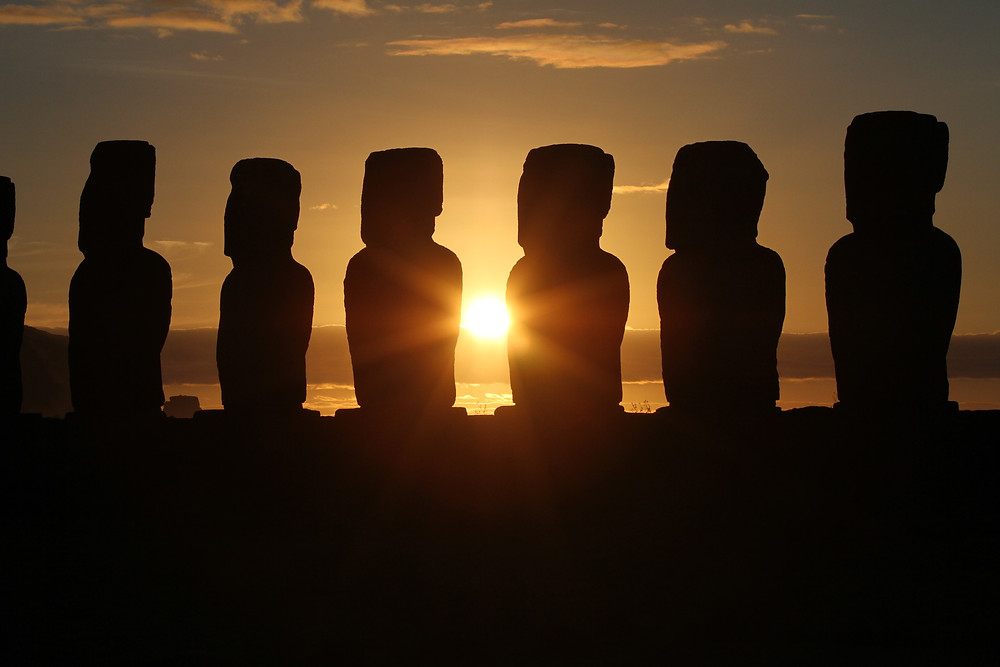 Sunrise in Easter Island, Chile