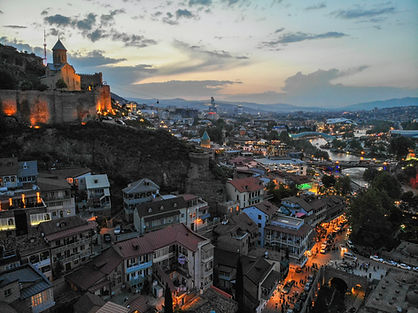 Evening View of Tbilisi Georgia