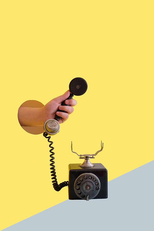 Holding Retro Rotary Phone - Image by Elena Koycheva