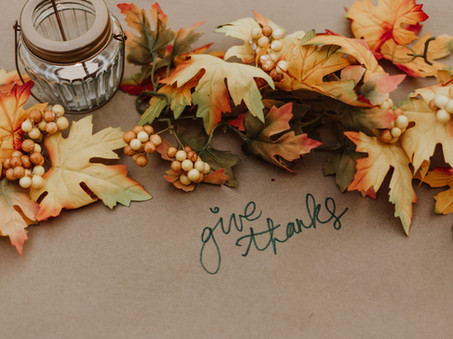 November Reflection by Richard Parrish -Will I Take Things for Granted or With Gratitude?