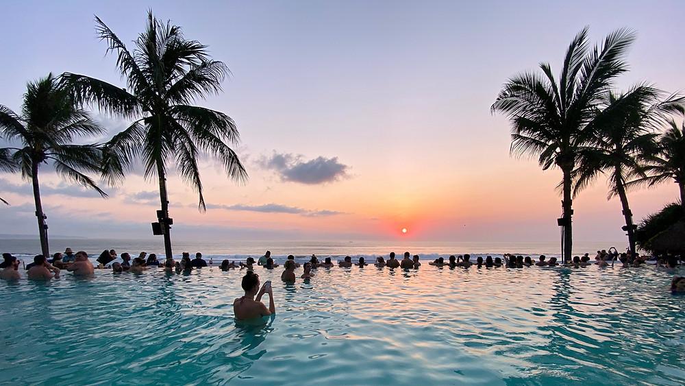 Seminyak Beach And Resort In The Bali Of Indonesia