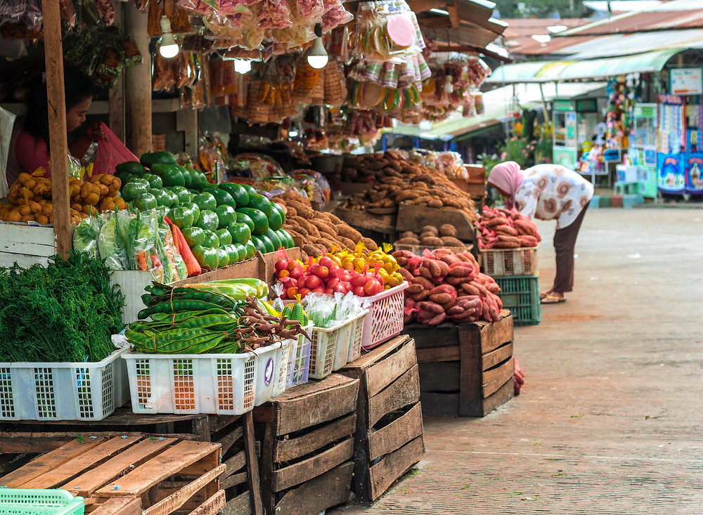 produce market in Bali Indonesia