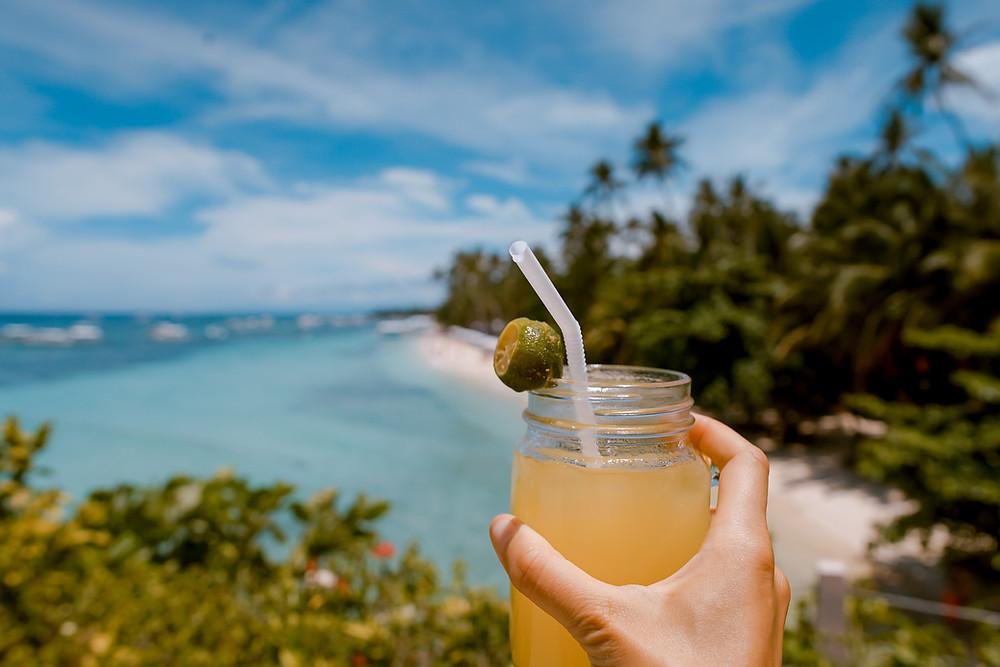 citrus lime cocktail beach