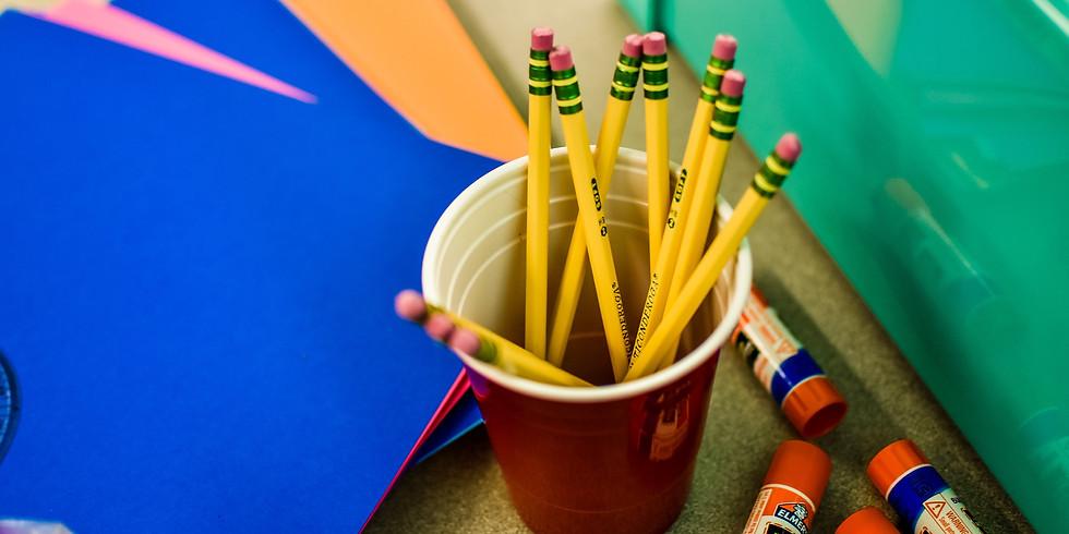 (VIRTUAL) Plastic Canvas Pencil Bookmark Craft