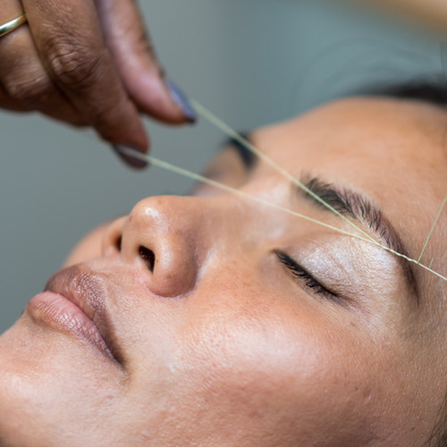 Eyebrow Shaping by Threading