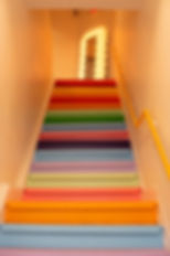 Image by Matt Flores Colorful Stairs