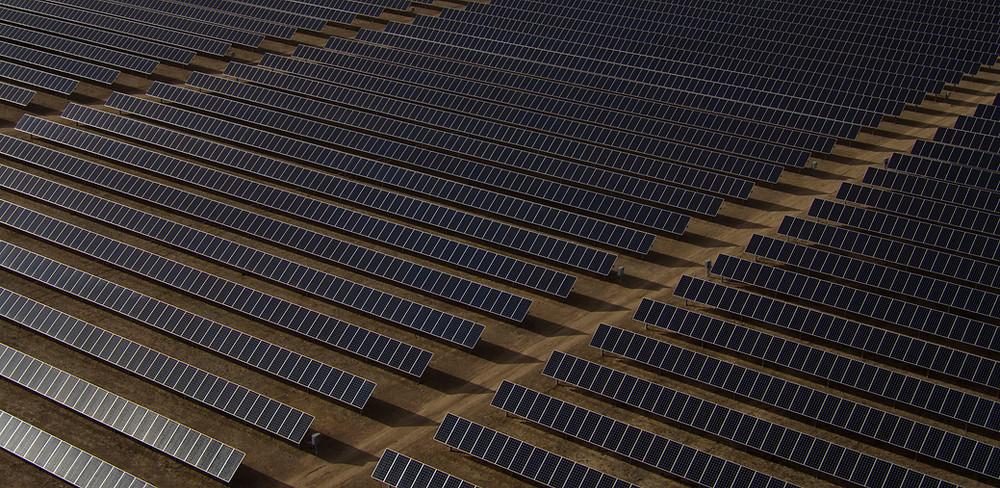 Huge solar energy field