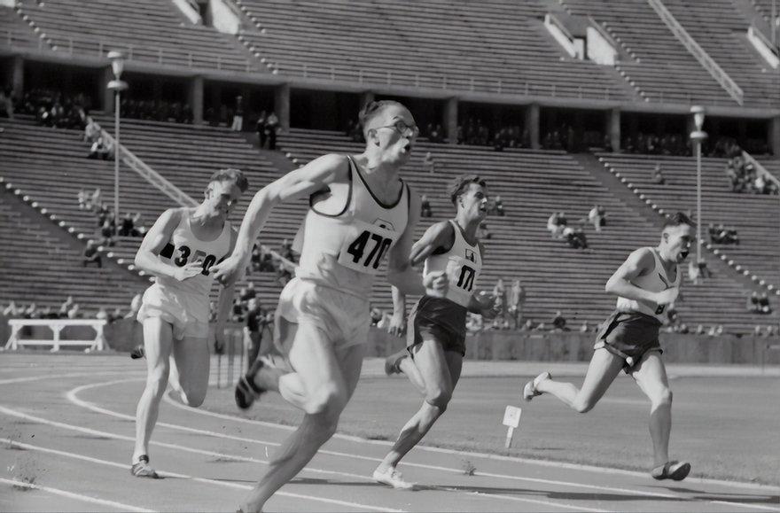corredores em corrida olimpica