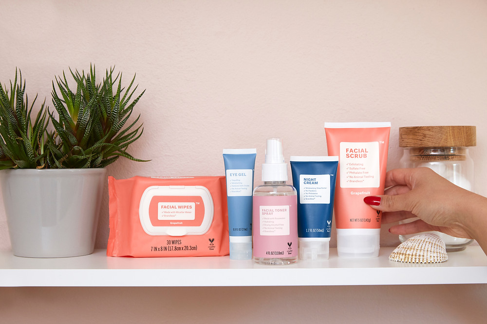 skin care products at 2 waves beauty bar