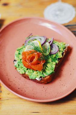 Salmon, avocado toast