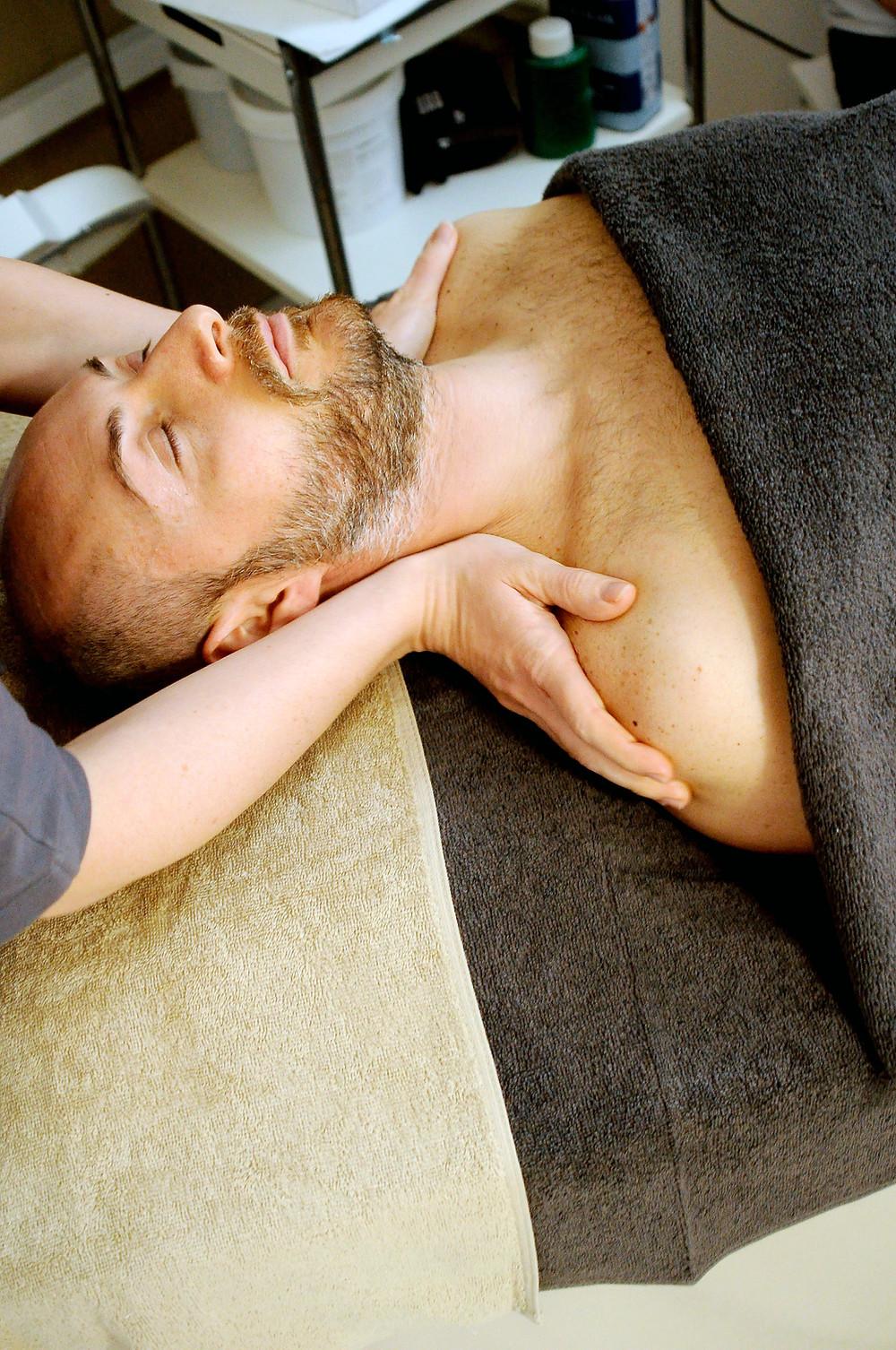 massage, gespannen spieren