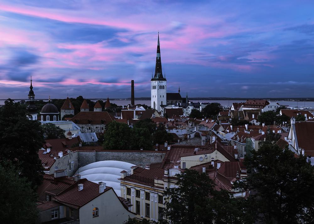 City square of Tallinn, Estonia